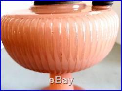 Aladdin B-87 Vertique Rose Moonstone Kerosene Lamp Made In 1938 Original Burner