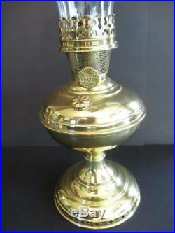 Aladdin Brass 1915-16 Model 6 Oil Lamp With Chimney & Shade
