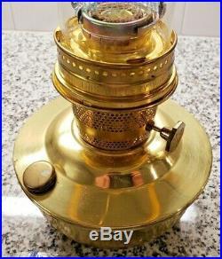 Aladdin Brass Kerosene Lamp with Manual