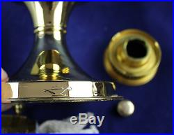 Aladdin Brass Model #23 Kerosene Oil Mantle Table Lamp With White Shade