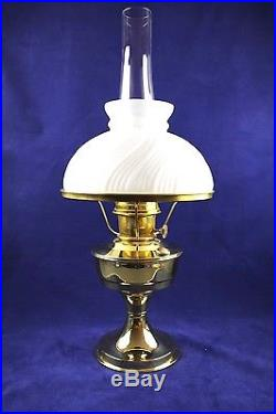 Aladdin Brass Model #23 Oil Kerosene Mantle Table Lamp With White Shade