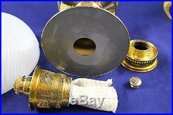 Aladdin Brass Model #23 Oil Kerosene Mantle Table Lamp With White Shade
