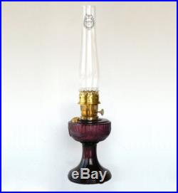 Aladdin C6183B Amethyst Lincoln Drape Oil Lamp with Brass Hardware