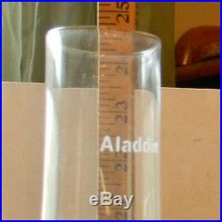 Aladdin CORINTHIAN Model B Clear Glass 24 Tall KEROSENE Oil Lamp 1930's