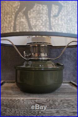 Aladdin Camo Green Aluminum Shelf Lamp With Deer Shade