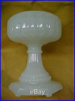 Aladdin Cathedral White Moonstone Oil Lamp, No chips or Cracks