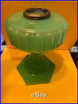 Aladdin Cathedral jade GreenMoonstone Lamp a024