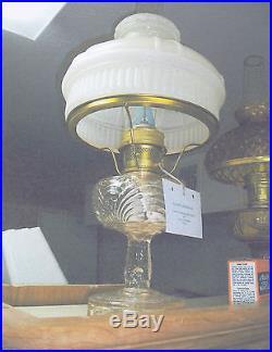 Aladdin Clear Reverse Washington Drape lamp -Satin white model 12 type shade