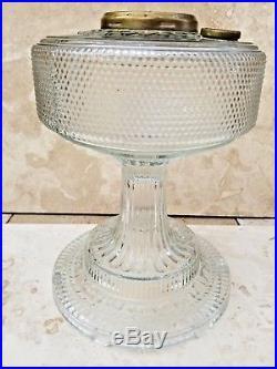 Aladdin Clear glass Colony Mantle Nu Lite Model B kerosene lamp footed Ships Fre