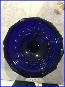 Aladdin Cobalt Blue Lincoln Drape Lamp Kerosene N B+h Rochester P&a Rayo Miller