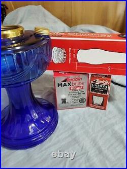 Aladdin Cobalt Blue Lincoln Drape Oil Kerosene Lamp New in box