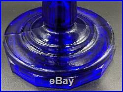 Aladdin Cobalt Tall Lincoln Drape Oil Lamp