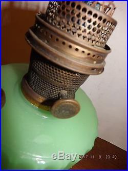 Lamps And Lighting >> Aladdin Corinthian Jadeite Kerosene Oil Lamp, Moonstone ...