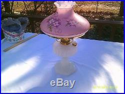 Aladdin Corinthian White Moonstone 1935-36 Kerosene Lamp Restored