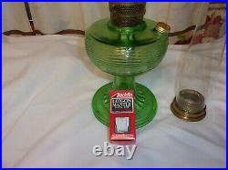 Aladdin Crystal Green Beehive Kerosene Lamp