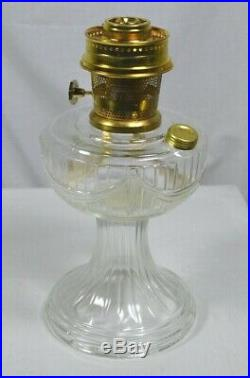 Aladdin Crystal Lincoln Drape Lamp, Model 23 Brass Burner C6192