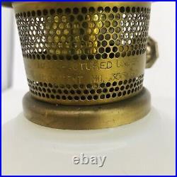 Aladdin Daisy Wheat Milk Glass Oil Lamp Model 23 Burner Vintage Oil or Kerosene