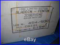 Aladdin Fenton 1994 Limited Edition Josephine Kerosene Mantle Lamp NIB New