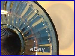 Aladdin Fenton Twilight Blue Grand Vertique 1994 Glass Lamp 410/500 COA Kero/Oil