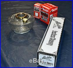 Aladdin Genie III Crystal Clear Font Kerosene Oil Lamp Honeycomb Complete NIB