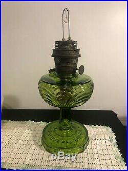 Aladdin Green 1941 1942 Washington Drape B-54 Kerosene Lamp