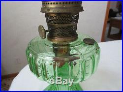 Aladdin Green Cathedral Kerosene lamp withburner & chimney beautiful color