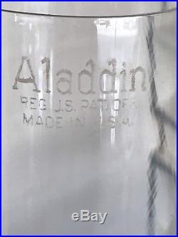 Aladdin Green Cathedral Model B Nu. Type Kerosene Mantle Lamp Ca. 1934