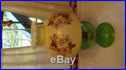 Aladdin Green Crystal Beehive Kerosene Lamp