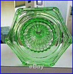 Aladdin Green Crystal Cathedral Oil Lamp Base B-108