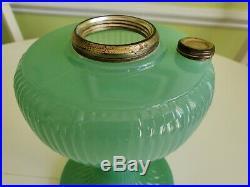 Aladdin Green Moonstone B-92 Raised Rib alt. Mould Vertique Glass Lamp Font only