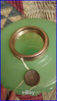 Aladdin Green Moonstone Glass Lamp