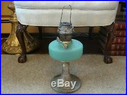 Aladdin Green Moonstone Queen Aladdin Oil Lamp 1937-1939 w Burner