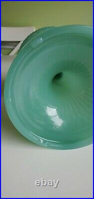Aladdin Jade Jadeite Green Moonstone Diamond Quilt B-86 Glass Lamp Fount only