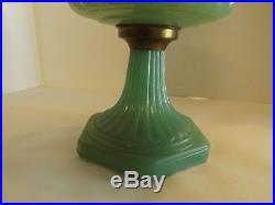 Aladdin Jadite Kerosene Oil Lamp Nu-type Model'b' Lox On Corinthian Moonstone