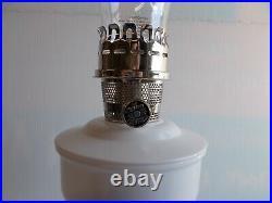 Aladdin Kerosene Aluminum Powder Coated White Wedding Table Lamp #100011065