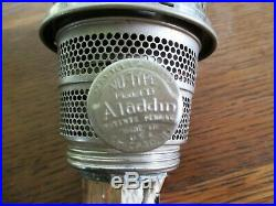 Aladdin Kerosene Lamp BELL STEM Washington Drape with Burner, Super Nice