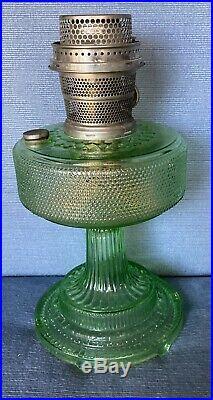 Aladdin Kerosene Lamp Base Colonial Green (H-12.5) Nickel Burner