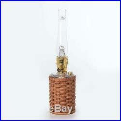 Aladdin Kerosene Lamp Co Heartland Wicker Lamp, Clear Glass, Non-Electric, Safe