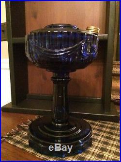 Aladdin Kerosene Lamp Cobalt Blue Lincoln Drape -REPRO 1980
