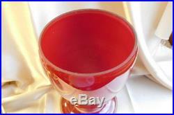 Aladdin Kerosene Lamp/ RED Venetian Art-Craft Vase 10 #1247