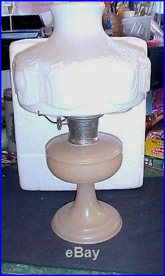 Aladdin Kerosene Lamp Venetian NuType dusty Rose Pink Model A Burner Mantle Lamp
