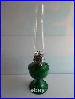 Aladdin Kerosene Lamps Aluminum Powder Coated Leaf Green Table Lamp # 100040003