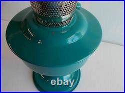 Aladdin Kerosene Lamps Aluminum Powder Coated Water Blue Table Lamp # 100040024