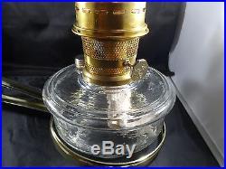 Aladdin Kerosene Mantle Lamp Crystal Bowl Wall Lamp New! Burner & chimney