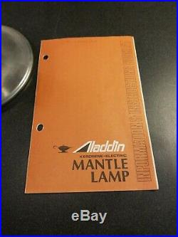 Aladdin Kerosene Mantle Lamp Model B139S Vintage 1984 with original Shade manual