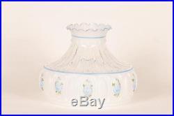 Aladdin Kerosene Mantle Lamps 10 Glass Crystal Blue Rose Shade #M750 NEW Floral