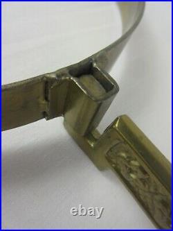 Aladdin Kerosene Oil Lamp Brass Wall Bracket Holder RARE VERSION