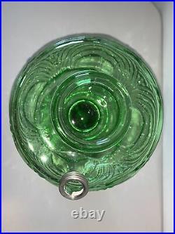 Aladdin Kerosene Oil Lamp Green WASHINGTON DRAPE Near Mint Great Color