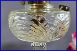 Aladdin Kerosene Oil Lamp Washington Drape Plain Stem Clear Crystal B Burner