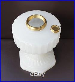 Aladdin Lamp 1935-1936 B-114 White Moonstone Corinthian with Brass Connector